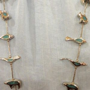 Jewelry - Amazing Vintage Liquid Silver Turquoise Fetish